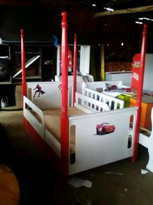 Kids post beds with storage drawers image 5