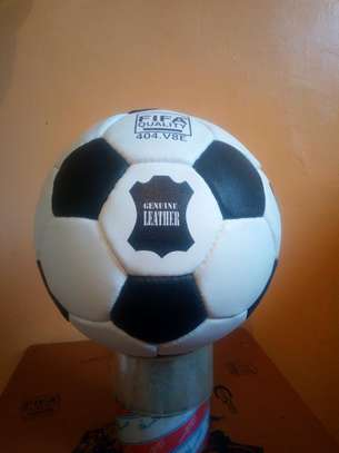 Genuine leather b/w football size 5 image 1