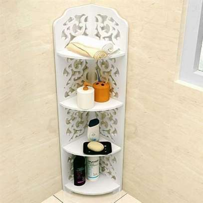 Generic 4 Tier Bathroom Shelf Corner Rack Organizer image 1
