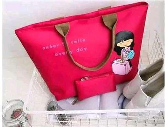 Ladies Canvas Handbags(2 in 1) image 4