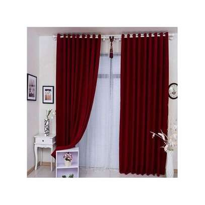 CLASSIC MAROON CURTAIN +FREE SHEER image 1