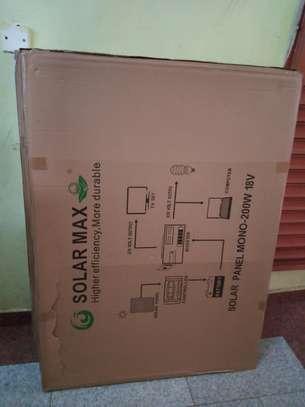 200 watts solar panel- mono panel. image 1