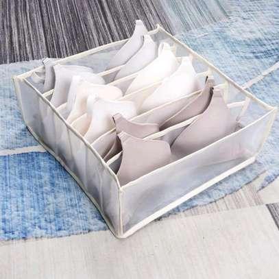 Cream 3 pieces underwear bra storage organiser image 1