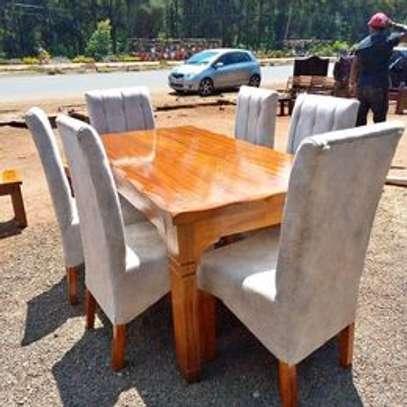 6 seater solid mahogany dining sets image 1