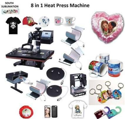 Semi-Automatic 5 in 1 Combo Heat Press Machine image 1