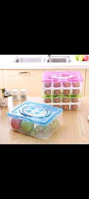 32pc egg container blue image 1