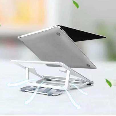WIWU S400 Ergonomic Aluminum Alloy Laptop Stand Folded Laptop Computer Stand Sturdy Support image 2