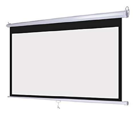 "Wall Mount Manual Projection Screen ""96×96"" image 1"