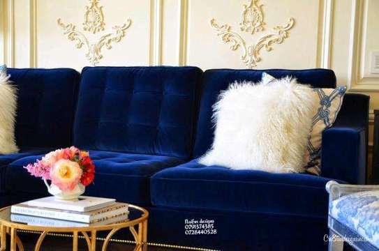 Modern livingroom sofas/blue sofas/six seater sofa image 2