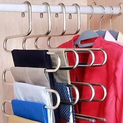 S Type 5-layer Metallic Trouser Hanger. image 1