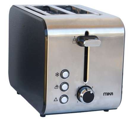 MIKA Toaster, 2 Slice, 715W - 850W, Stainless Steel image 1