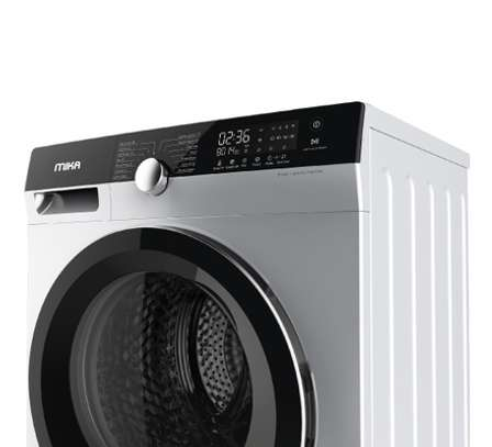 MIKA Washing Machine, Inverter Motor, Fully-Automatic, 10Kgs, Dark Silver image 1