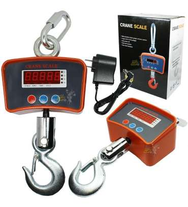 SCALE HANGING DIGITAL HOOK 500KG BIVOLT WITH RECHARGEABLE BATTERY. image 1