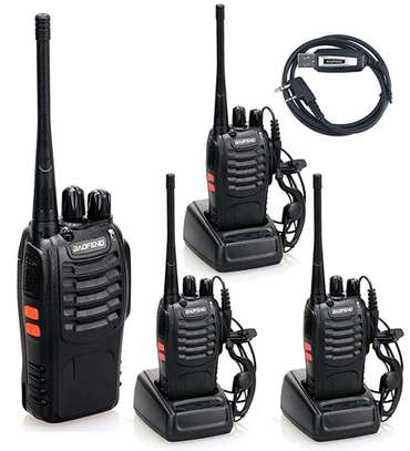 Walkie Talkie  BF-888S (Pack of 2) Handheld 5W Two Way Ham Radio with Earpiece Built in LED Torch