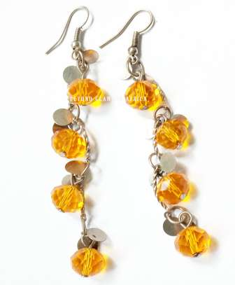 Orange Crystal Earrings image 1