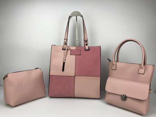 4 in 1 Plain Patched Handbags