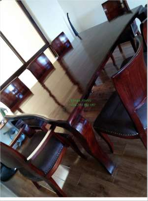Antique mahogany dining table image 4