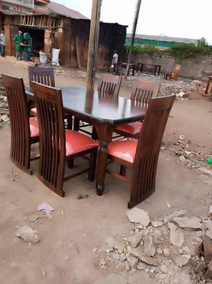 6 Seater Mahogany Framed Dining Table Sets. image 2