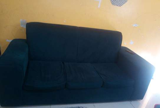 3seater teal blue sofa