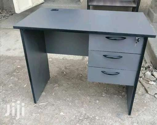 Laptop PC office desk with 3 drawers image 1