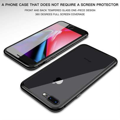 Magnetic Double-sided 360 Full Protection Glass Case for iPhone 7/8 image 6