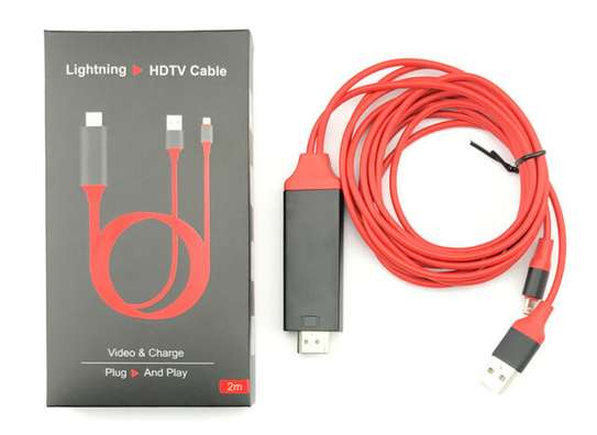 Lightning To HDMI/HDTV AV TV Cable Adapter -iphone/iPads image 6