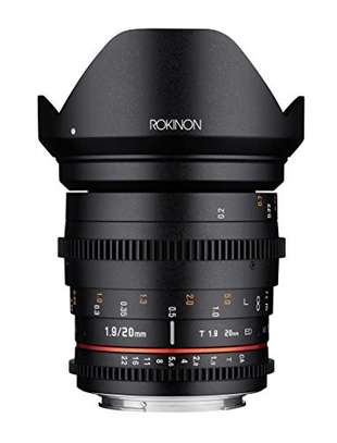 Rokinon 20mm T1.9 Cine DS AS ED UMC Wide Angle Cine Lens for Nikon image 1