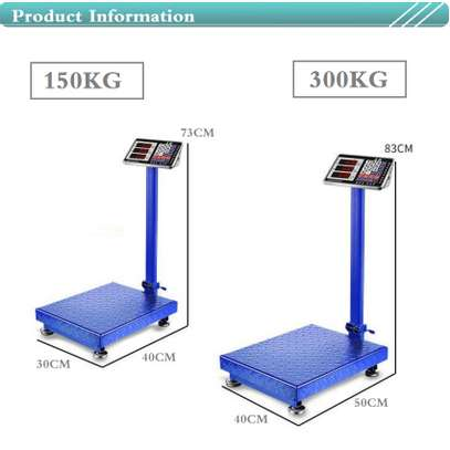 300kg electronic scale  with wide  platform . image 1