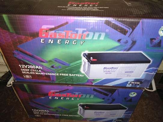 Gaston solar batteries 200ah image 1