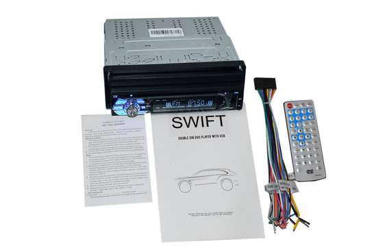 """Swift Car Stereo Head Unit with 7"""" Motorized Retractable Touchscreen DVD USB AUX Bluetooth image 2"""