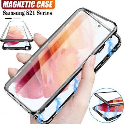 Magnetic Double-sided 360 Full Protection Glass Case for Samsung S21 S21 Plus S21 Ultra image 6