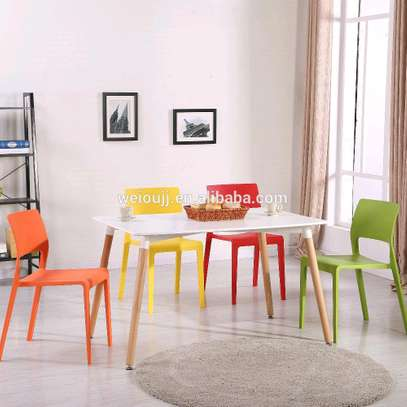 Stackable Outdoor/Hotel Plastic Chairs image 1