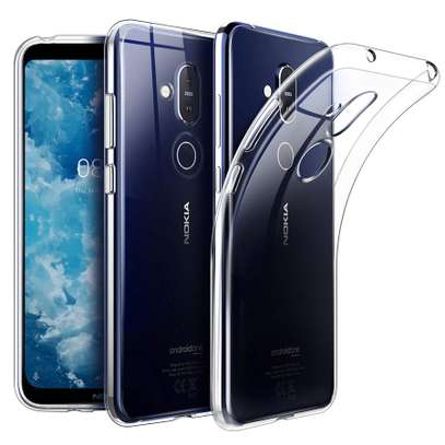 Clear TPU Soft Transparent case for Nokia 8.1 image 2