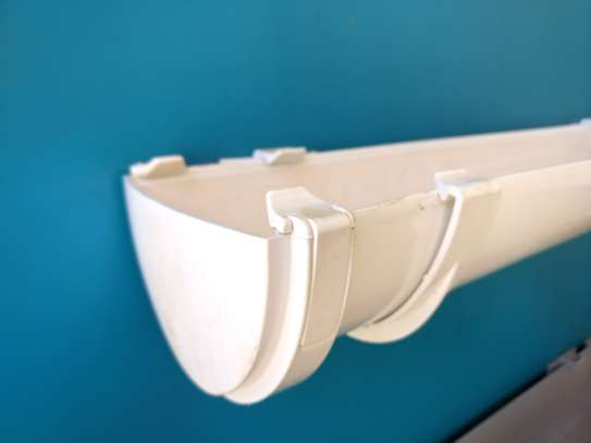 Half Round PVC Rainwater Gutter image 2
