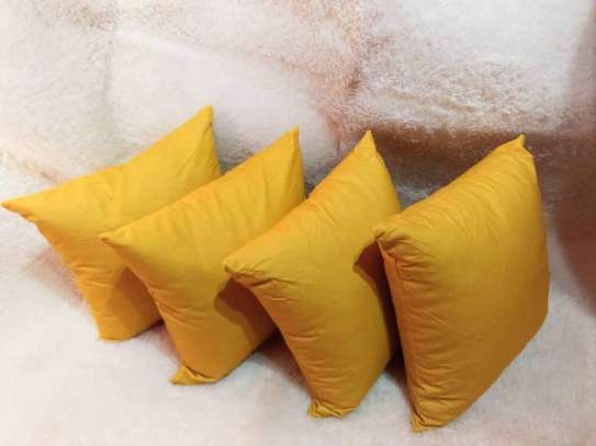 mustard yellow throw pillows image 1