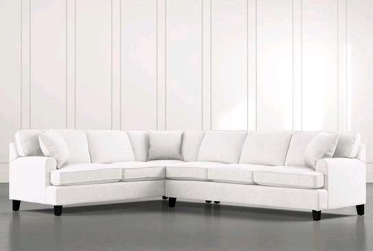 Six seater white L shaped sofas/best sofa sets and couches kenya image 1