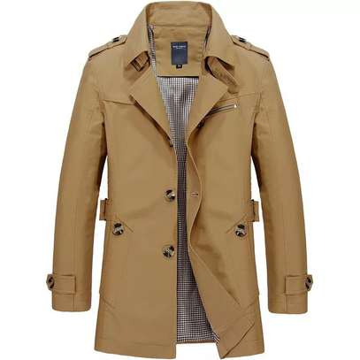 Men leather trenchcoat