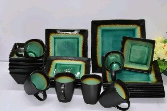 24-pieces ceramic dinner set image 1
