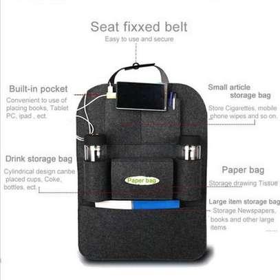 Multi-Pocket Car Back Seat Storage Organizer Hang Black (blaCK image 2