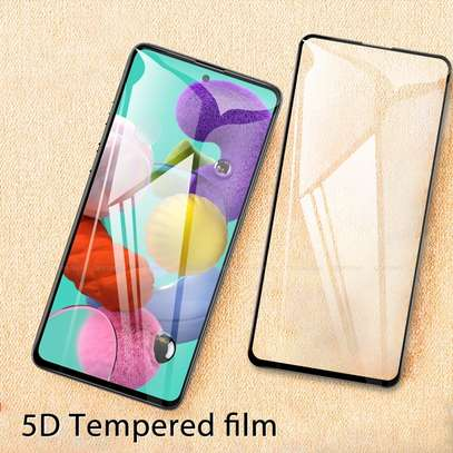 5D Full Glue Protective Tempered Glass Protector For Samsung A71 A51 image 3