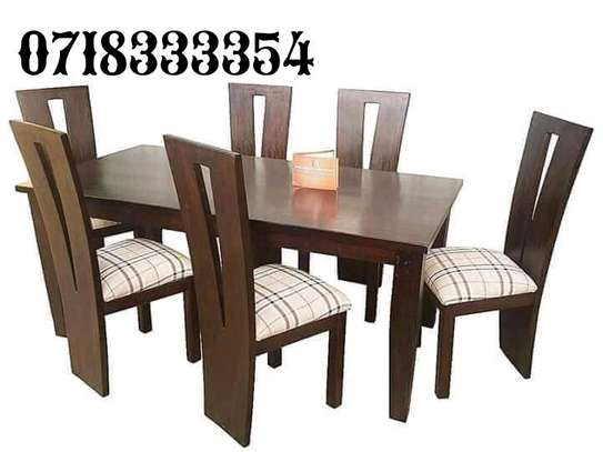 Simple Quality 6 Seater Mahogany Dining Table image 2