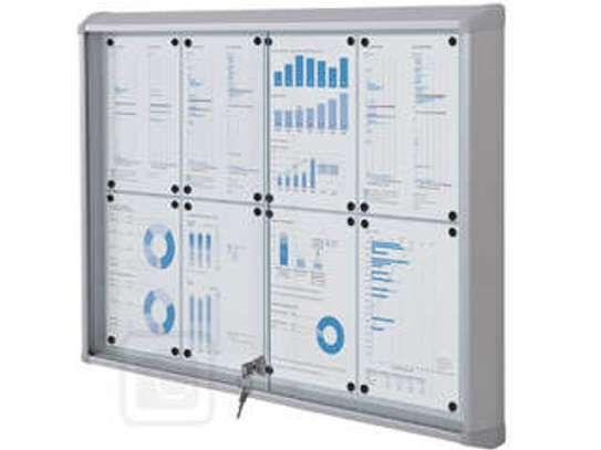 Glass sliding noticeboards 4*4 image 1