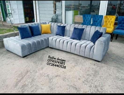 Five seater grey L shaped sofas for sale in Nairobi Kenya/Best Furniture stores in Nairobi Kenya image 1