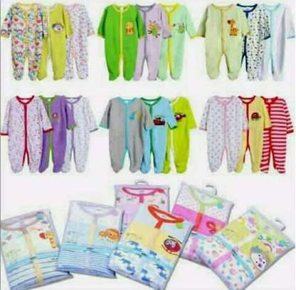 A set of 3 cotton rompers