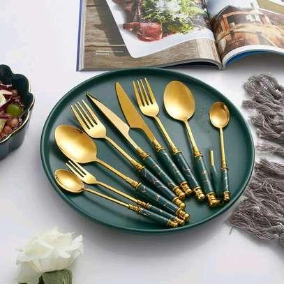 24pcs gold spoon set image 4
