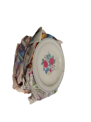 Stack Of Flowered Plates