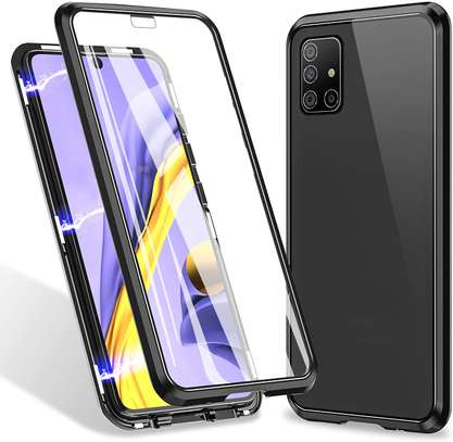 Magnetic Double-sided 360 Full Protection Glass Case for Samsung A71  A51 image 5