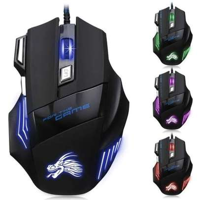 Professional Wired USB Optical Gaming Mouse  - 5500DPI image 1