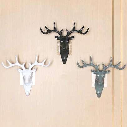 Wall Hanging Hook Vintage Deer Head image 1