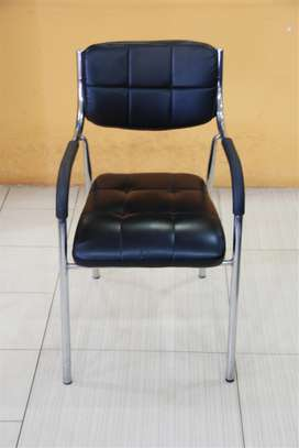 Amelia Leather Visitor's Chairs With Arms
